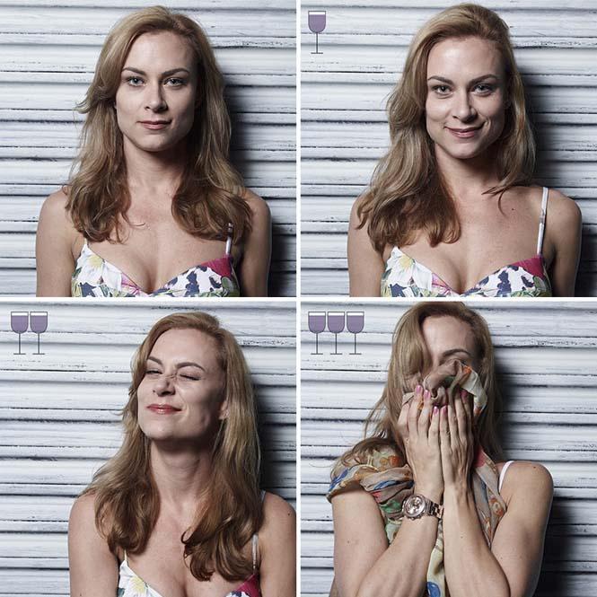Πορτραίτα ανθρώπων μετά από 1, 2 και 3 ποτήρια κρασιού (2)