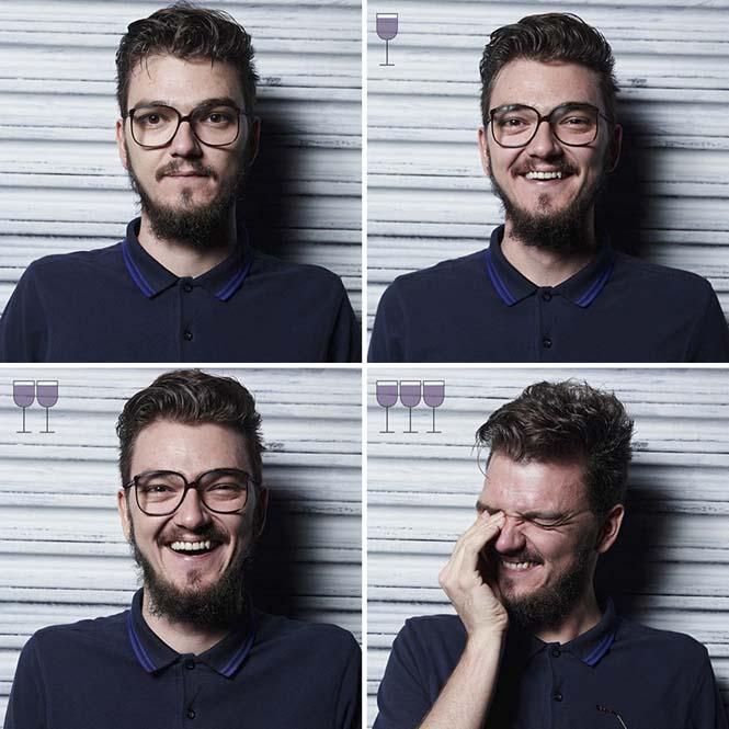 Πορτραίτα ανθρώπων μετά από 1, 2 και 3 ποτήρια κρασιού (4)