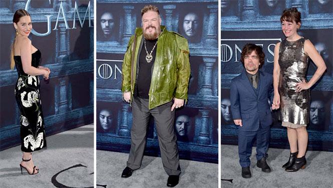 Οι πρωταγωνιστές του Game Of Thrones φόρεσαν τα καλά τους για την πρεμιέρα της 6ης σεζόν