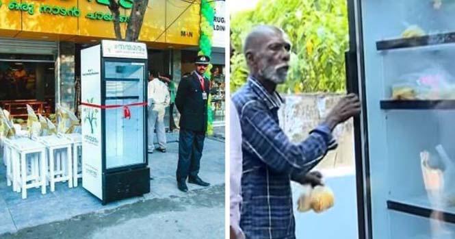 Εστιατόριο τοποθέτησε ψυγείο στο δρόμο για να τρώνε όσοι έχουν ανάγκη (1)