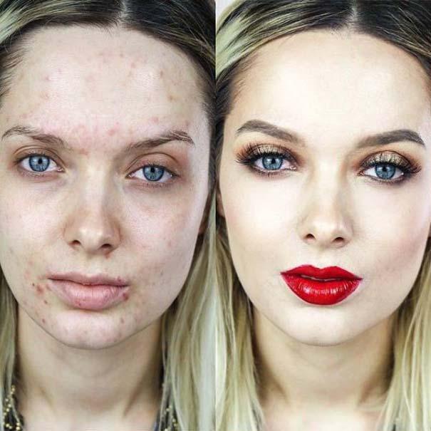 Πως το μακιγιάζ μπορεί να «εξαφανίσει» τα δερματικά προβλήματα των γυναικών (3)