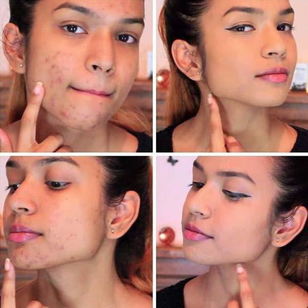 Πως το μακιγιάζ μπορεί να «εξαφανίσει» τα δερματικά προβλήματα των γυναικών (8)