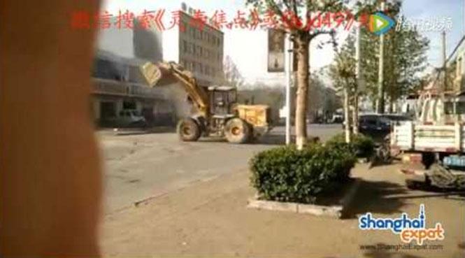 Στην Κίνα έγινε της... μπουλντόζας!