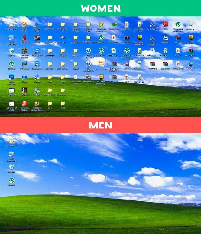 Άνδρες vs Γυναίκες: 10 χιουμοριστικές εικόνες με τις διαφορές των δυο φύλων (1)