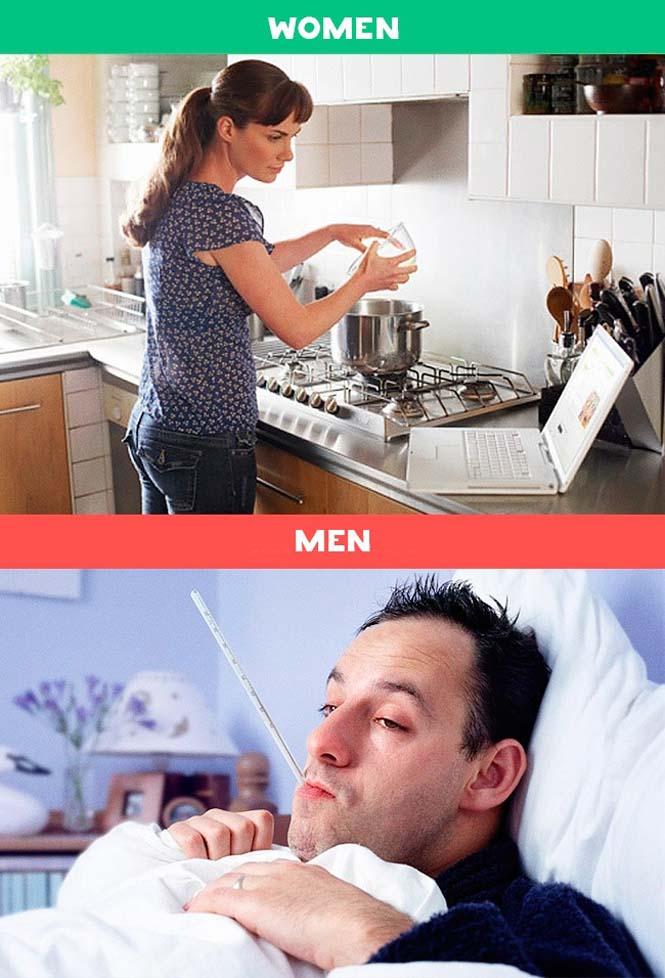 Άνδρες vs Γυναίκες: 10 χιουμοριστικές εικόνες με τις διαφορές των δυο φύλων (8)