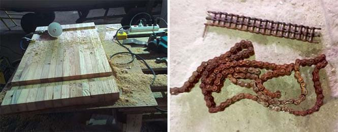 Δημιουργική κατασκευή με μια παλιά σκουριασμένη αλυσίδα (2)