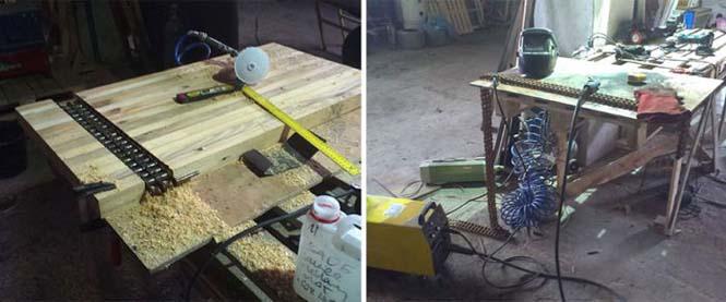 Δημιουργική κατασκευή με μια παλιά σκουριασμένη αλυσίδα (3)