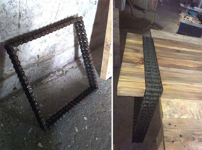 Δημιουργική κατασκευή με μια παλιά σκουριασμένη αλυσίδα (4)