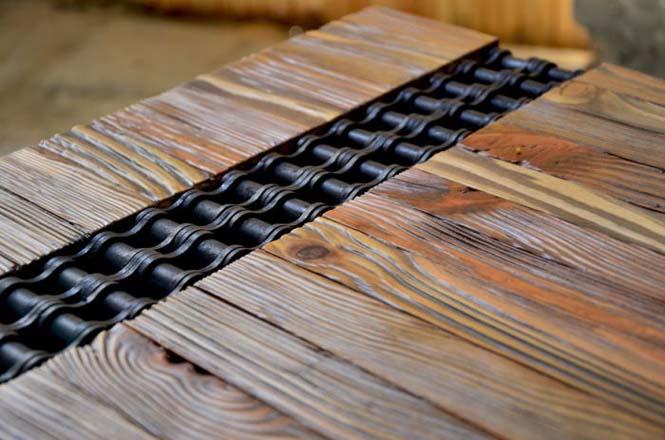 Δημιουργική κατασκευή με μια παλιά σκουριασμένη αλυσίδα (6)