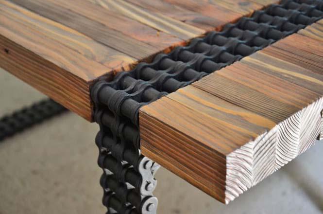 Δημιουργική κατασκευή με μια παλιά σκουριασμένη αλυσίδα (7)