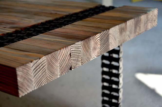Δημιουργική κατασκευή με μια παλιά σκουριασμένη αλυσίδα (8)