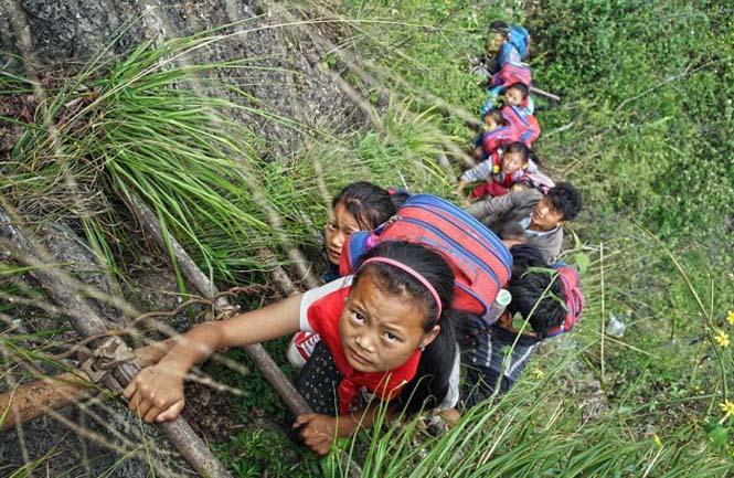 Τα παιδιά αυτού του απομακρυσμένου χωριού στην Κίνα πάνε σχολείο (2)