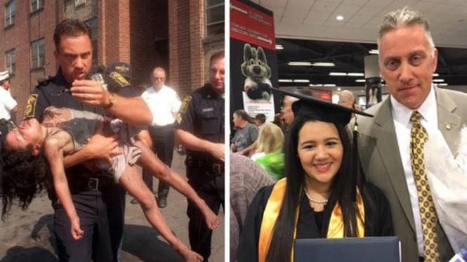 Το 1998 της έσωσε την ζωή και σήμερα την είδε να αποφοιτά από το κολλέγιο | Φωτογραφία της ημέρας