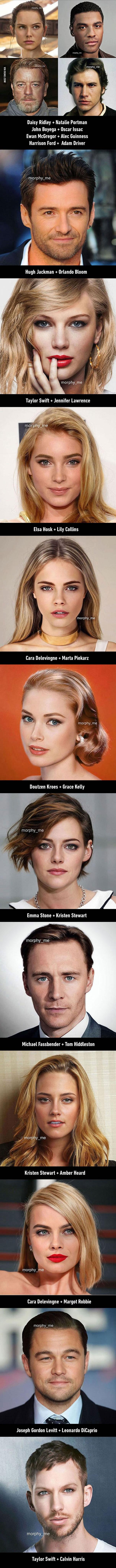 Σπεσιαλίστας του Photoshop συνδυάζει τα πρόσωπα διασήμων και το αποτέλεσμα είναι γοητευτικό (3)