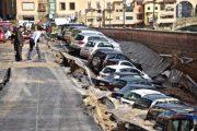 Χώρος στάθμευσης κατέρρευσε στις όχθες του ποταμού Άρνου στη Φλωρεντία (1)