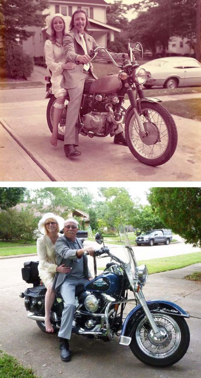 Ζευγάρια κάνουν αναπαράσταση παλιών φωτογραφιών δείχνοντας πως η αγάπη είναι παντοτινή (2)