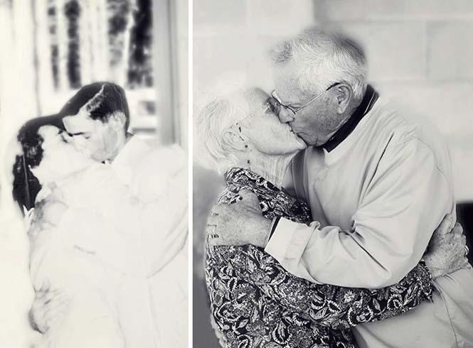 Ζευγάρια κάνουν αναπαράσταση παλιών φωτογραφιών δείχνοντας πως η αγάπη είναι παντοτινή (5)