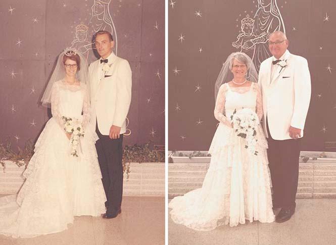 Ζευγάρια κάνουν αναπαράσταση παλιών φωτογραφιών δείχνοντας πως η αγάπη είναι παντοτινή (11)