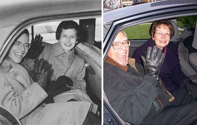 Ζευγάρια κάνουν αναπαράσταση παλιών φωτογραφιών δείχνοντας πως η αγάπη είναι παντοτινή (12)