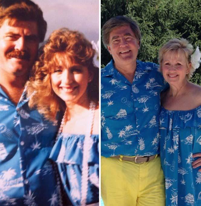Ζευγάρια κάνουν αναπαράσταση παλιών φωτογραφιών δείχνοντας πως η αγάπη είναι παντοτινή (13)