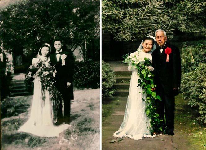 Ζευγάρια κάνουν αναπαράσταση παλιών φωτογραφιών δείχνοντας πως η αγάπη είναι παντοτινή (21)