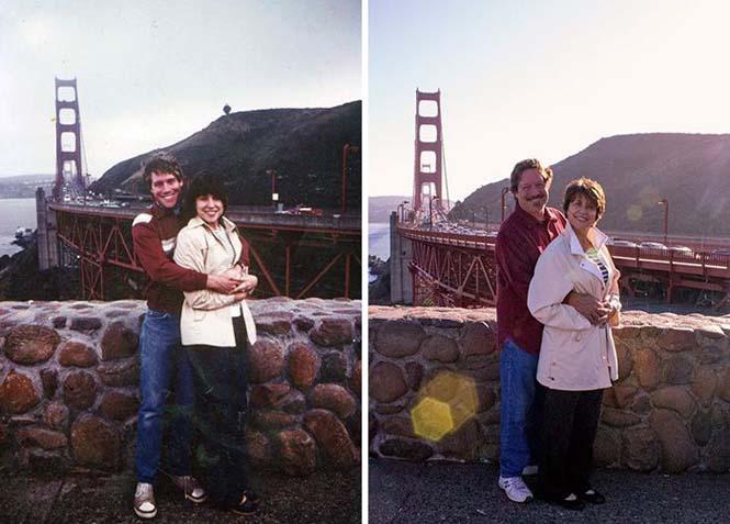 Ζευγάρια κάνουν αναπαράσταση παλιών φωτογραφιών δείχνοντας πως η αγάπη είναι παντοτινή (22)