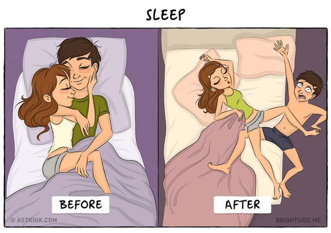 Η ζωή πριν και μετά τον γάμο μέσα από σκίτσα (1)