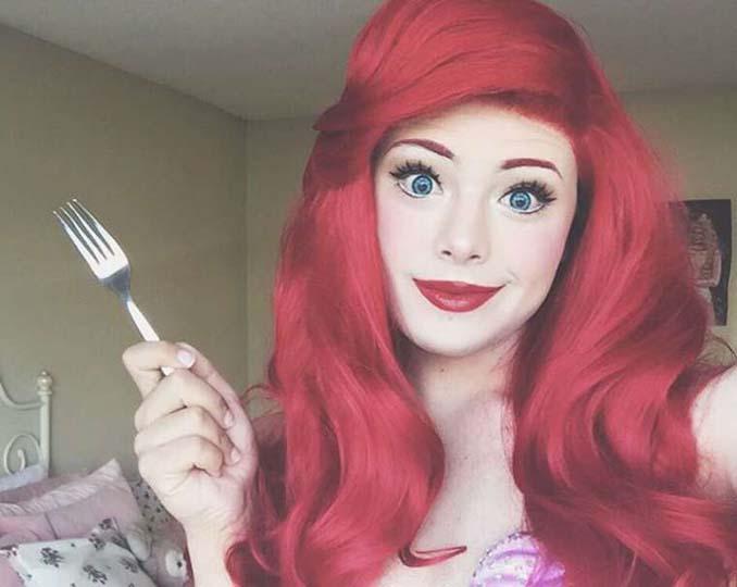 21χρονος μεταμορφώνεται σε πριγκίπισσες της Disney (3)