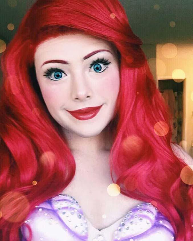 21χρονος μεταμορφώνεται σε πριγκίπισσες της Disney (5)