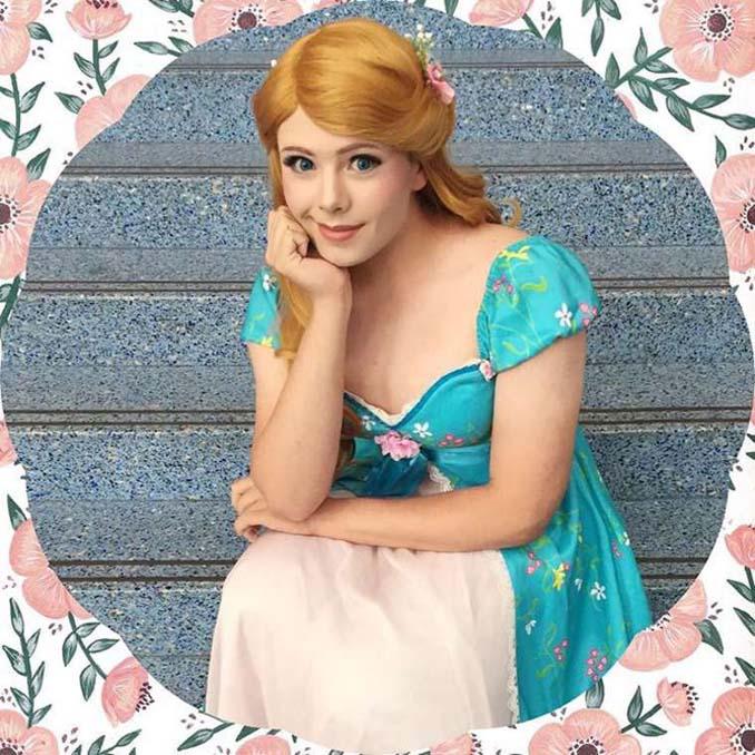 21χρονος μεταμορφώνεται σε πριγκίπισσες της Disney (8)