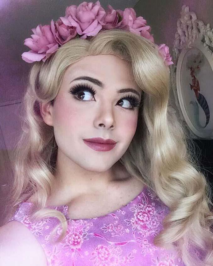 21χρονος μεταμορφώνεται σε πριγκίπισσες της Disney (13)
