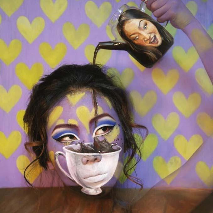 22χρονη δημιουργεί απίστευτες οφθαλμαπάτες χρησιμοποιώντας το πρόσωπο της (1)