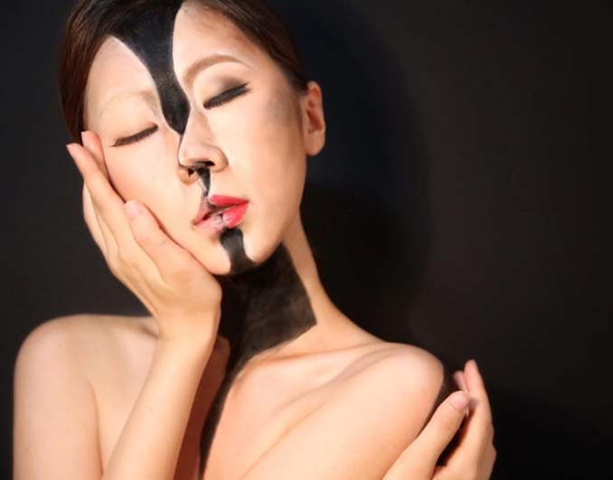 22χρονη δημιουργεί απίστευτες οφθαλμαπάτες χρησιμοποιώντας το πρόσωπο της (2)