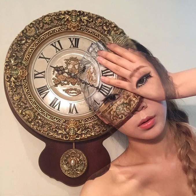 22χρονη δημιουργεί απίστευτες οφθαλμαπάτες χρησιμοποιώντας το πρόσωπο της (3)