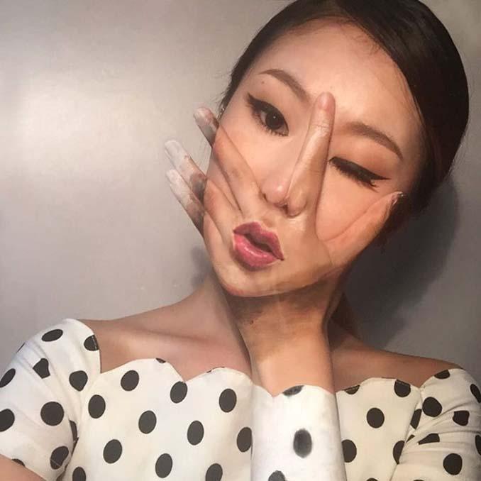 22χρονη δημιουργεί απίστευτες οφθαλμαπάτες χρησιμοποιώντας το πρόσωπο της (4)