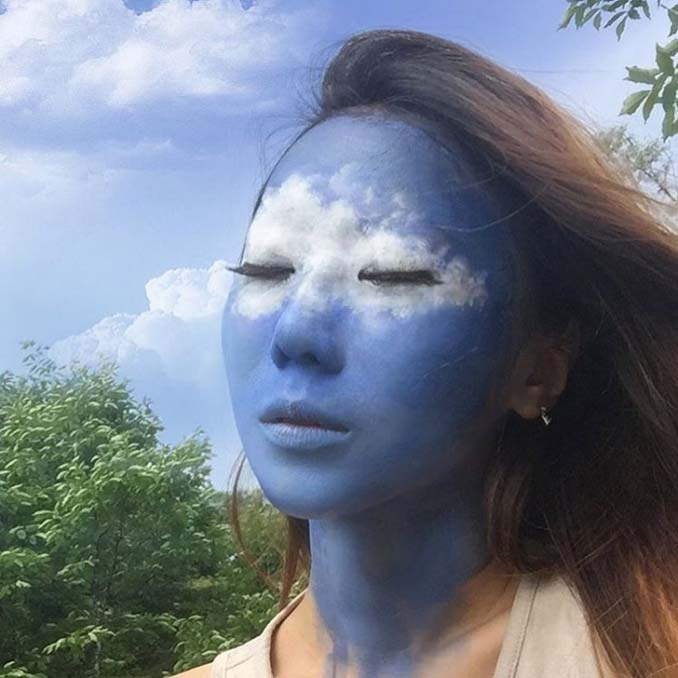 22χρονη δημιουργεί απίστευτες οφθαλμαπάτες χρησιμοποιώντας το πρόσωπο της (5)