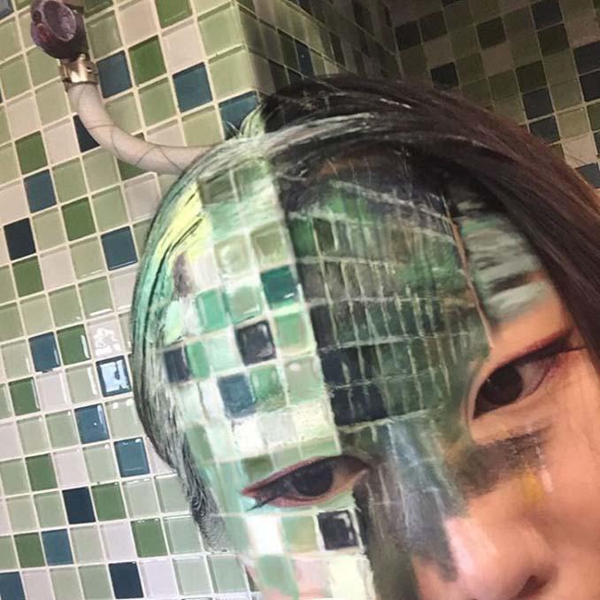 22χρονη δημιουργεί απίστευτες οφθαλμαπάτες χρησιμοποιώντας το πρόσωπο της (6)
