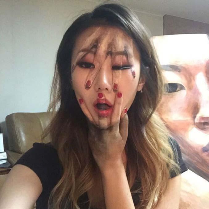 22χρονη δημιουργεί απίστευτες οφθαλμαπάτες χρησιμοποιώντας το πρόσωπο της (7)