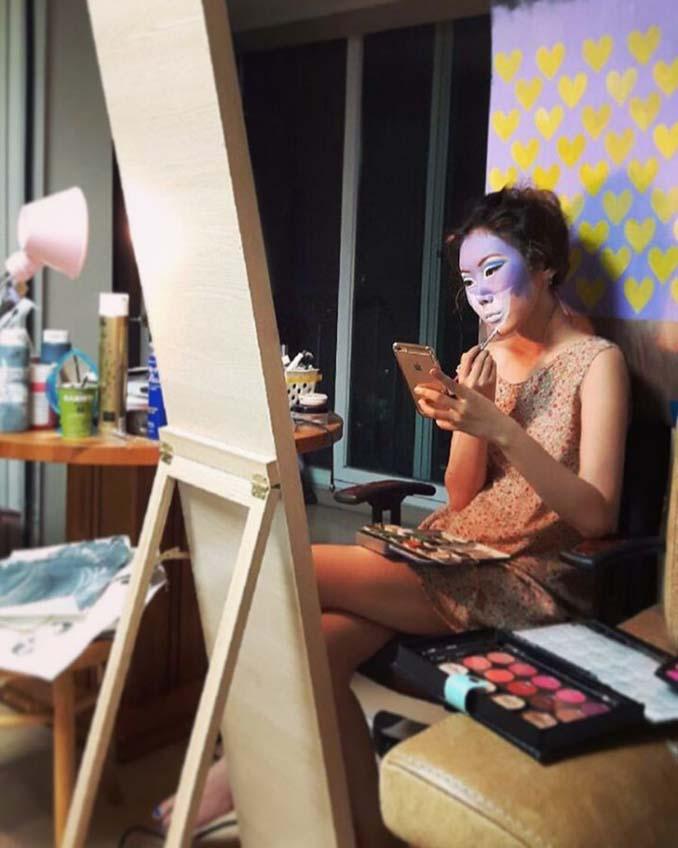 22χρονη δημιουργεί απίστευτες οφθαλμαπάτες χρησιμοποιώντας το πρόσωπο της (9)
