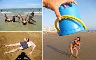 Δημιουργικές φωτογραφίες στην παραλία