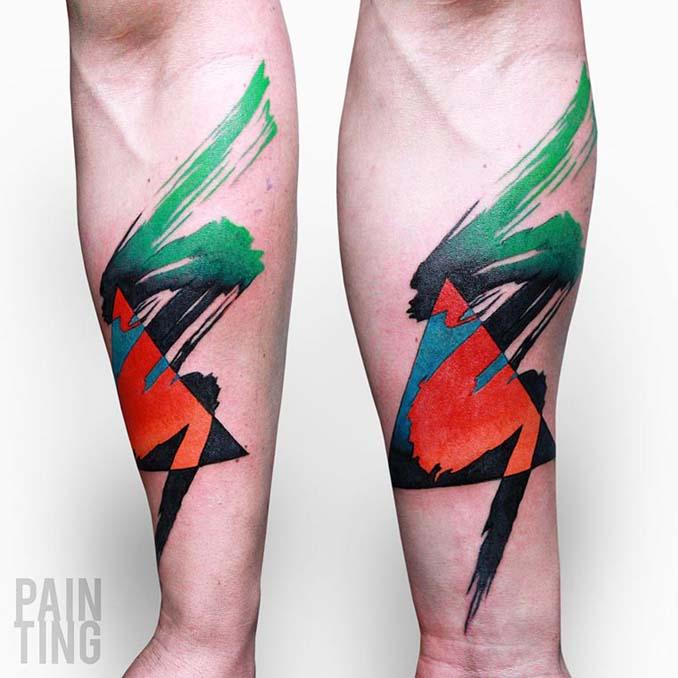 Δυναμικά και γεμάτα χρώμα τατουάζ από τον Szymon Gradowicz (1)