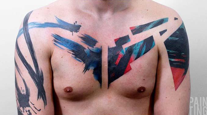 Δυναμικά και γεμάτα χρώμα τατουάζ από τον Szymon Gradowicz (2)