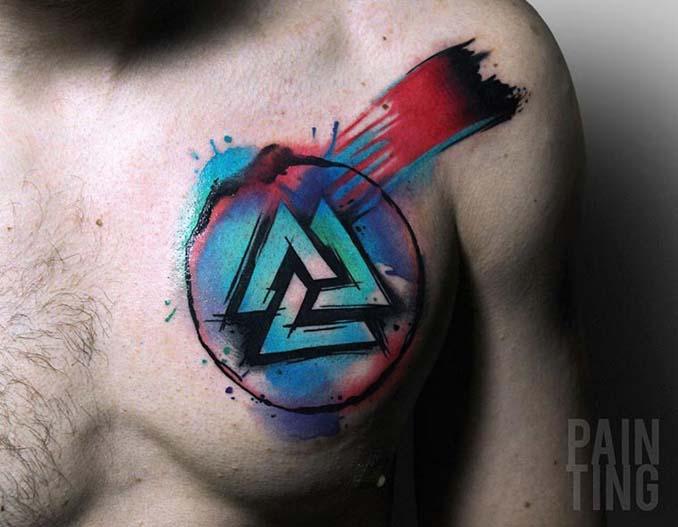 Δυναμικά και γεμάτα χρώμα τατουάζ από τον Szymon Gradowicz (3)