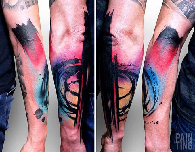 Δυναμικά και γεμάτα χρώμα τατουάζ από τον Szymon Gradowicz (4)