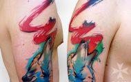 Δυναμικά και γεμάτα χρώμα τατουάζ από τον Szymon Gradowicz (7)