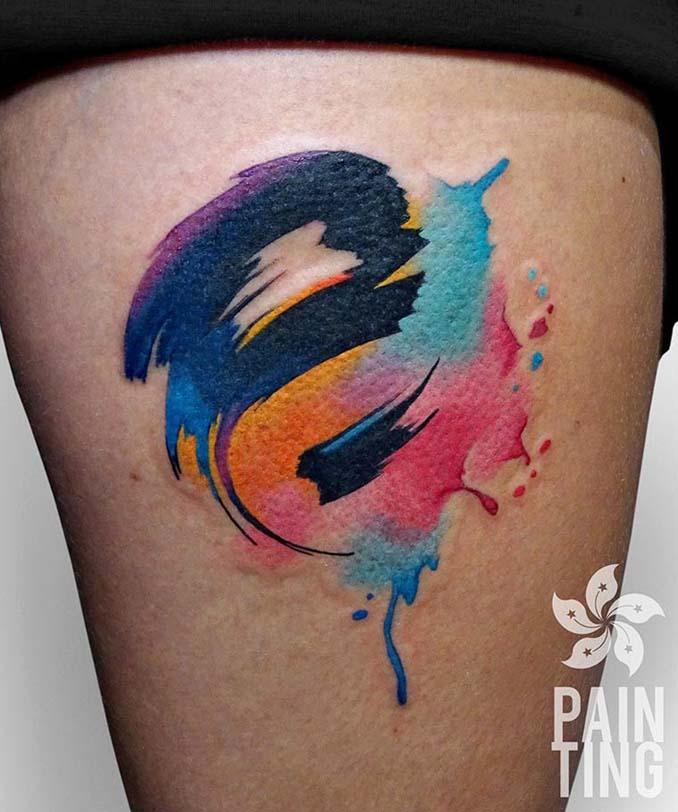 Δυναμικά και γεμάτα χρώμα τατουάζ από τον Szymon Gradowicz (14)