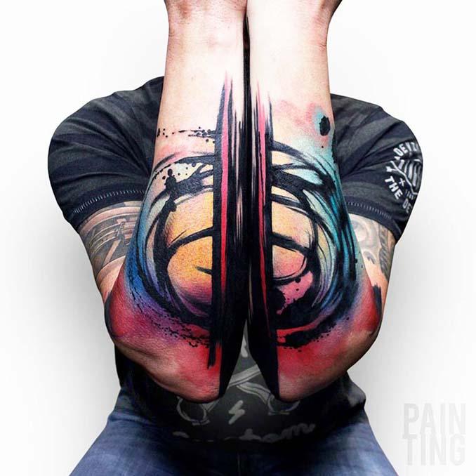 Δυναμικά και γεμάτα χρώμα τατουάζ από τον Szymon Gradowicz (17)