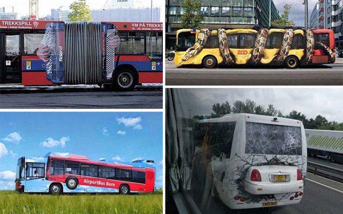 23 έξυπνες και δημιουργικές διαφημίσεις σε λεωφορεία