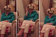 Γιαγιά φρικάρει δοκιμάζοντας virtual reality
