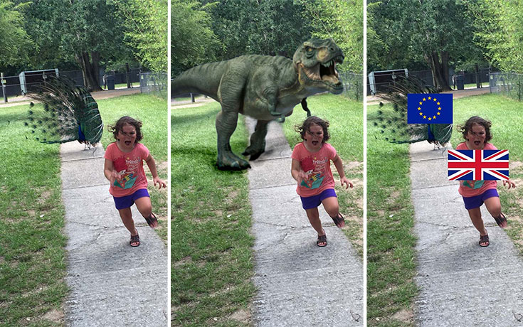 Κοριτσάκι τρέχει να γλυτώσει από παγόνι και οι ειδικοί του Photoshop αναλαμβάνουν δράση (1)